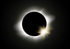 солнце затмения Стоковое фото RF