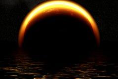 солнце затмения Стоковое Изображение