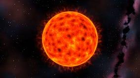 Солнце звезды красного карлика, 3d представляет Стоковое Изображение RF