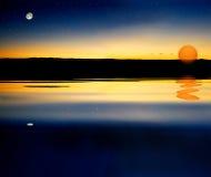 солнце звезды луны Стоковые Фото