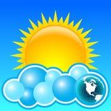 солнце земли стоковое фото rf
