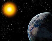 солнце земли Стоковые Изображения RF