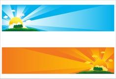 солнце знамени Стоковые Фото