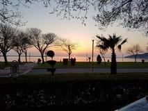 Солнце идет вниз Стоковая Фотография