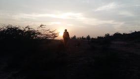 Солнце идя вниз стоковые фотографии rf