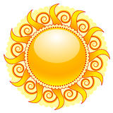 солнце иконы иллюстрация вектора