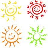 солнце икон Стоковое Изображение
