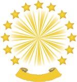Солнце и предпосылка звезд Стоковые Изображения