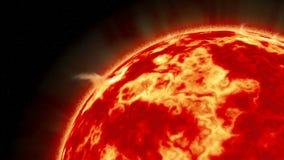 Солнце как увидено от космоса стоковое изображение