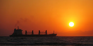 солнце корабля утра Стоковое фото RF