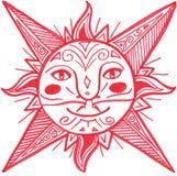 солнце красного цвета украшения Стоковая Фотография RF