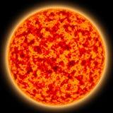 солнце красного цвета 3 gaint Стоковая Фотография