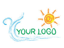 солнце логоса Стоковая Фотография RF