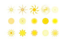 солнце логосов Стоковые Фотографии RF