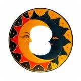 солнце луны Стоковая Фотография