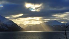 солнце лучей облаков Стоковая Фотография