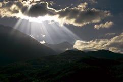 солнце лучей стоковые фото
