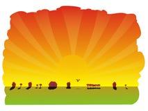 солнце лучей иллюстрация вектора