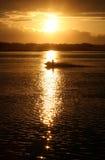 солнце лыжи двигателя Стоковые Фото