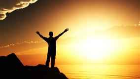 солнце людей приветствию Стоковые Фото