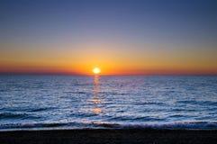 солнце моря ветрила Стоковая Фотография