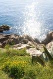 солнце моря отражения Стоковые Изображения