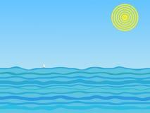 солнце моря Стоковое Изображение