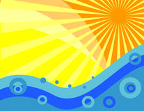 солнце моря бесплатная иллюстрация