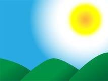 солнце неба гор Стоковые Фотографии RF