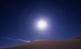 солнце неба дюн Стоковые Изображения