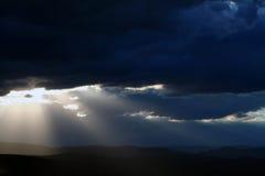 солнце ночного неба Стоковые Изображения
