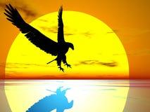солнце орла иллюстрация штока
