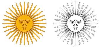 Солнце от герба страны -го мая - Аргентины и Уругвая Желтый ci бесплатная иллюстрация