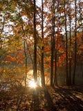 солнце падения Стоковое Изображение RF