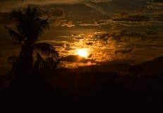 Солнце перед заходом солнца Стоковая Фотография RF