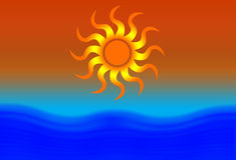 солнце пляжа Стоковые Изображения