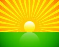 солнце подъема Стоковое Фото
