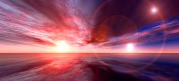 солнце подталкивания Стоковые Изображения