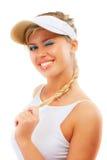 солнце предохранения от портрета девушки головное пиковое Стоковое Изображение RF