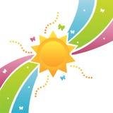 солнце предпосылки цветастое иллюстрация штока