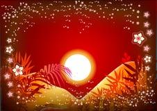 солнце предпосылки Стоковое Фото