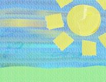 солнце предпосылки Стоковое фото RF