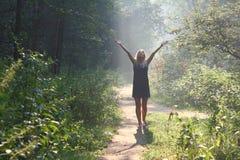 солнце приветствию Стоковые Изображения