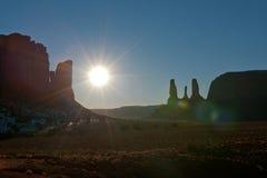 солнце пустыни Стоковая Фотография