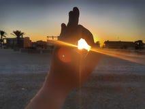 солнце руки элемента конструкции Стоковые Фото