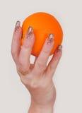солнце руки Стоковая Фотография