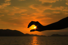 солнце руки Стоковые Фото