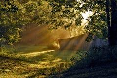 солнце сарая утра Стоковые Изображения