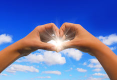 солнце сердца Стоковые Фото