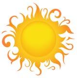 Солнце символа иллюстрация вектора